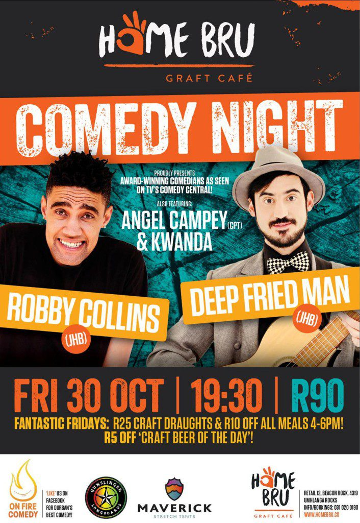 Home Bru Comedy Night – 30 October