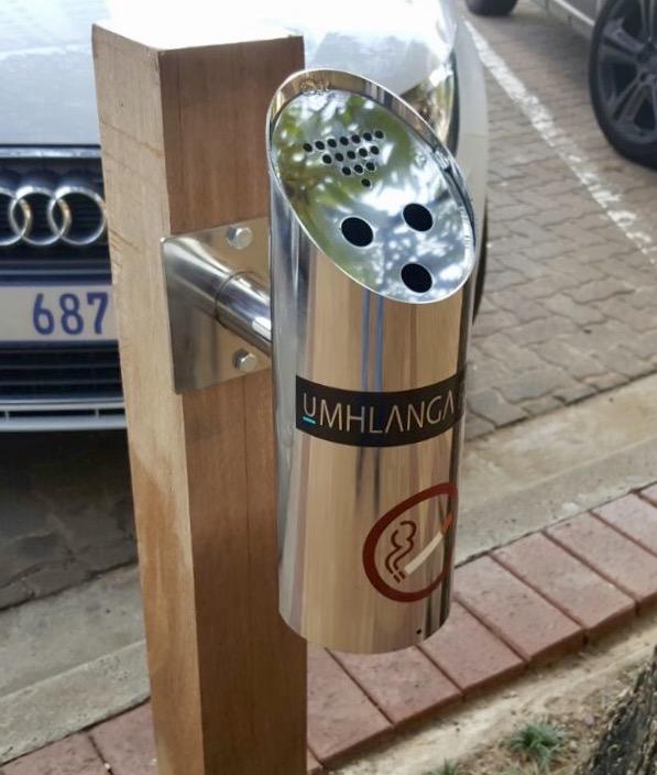 Cigarette Butt Dispensers Installed