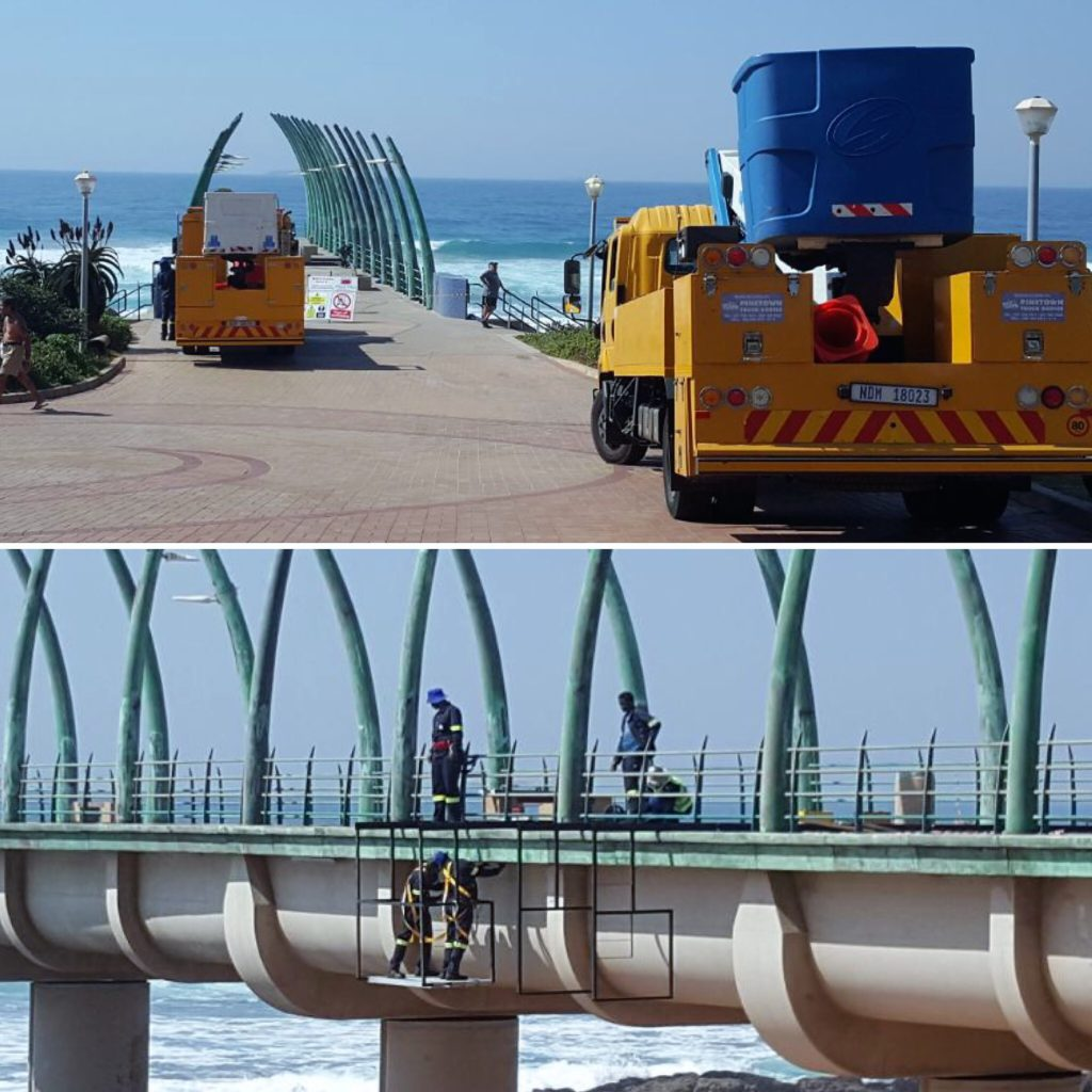 uMhlanga Pier lights are being replaced.